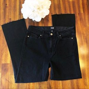 PAIGE NEW | Collete crop flare jeans black size 30